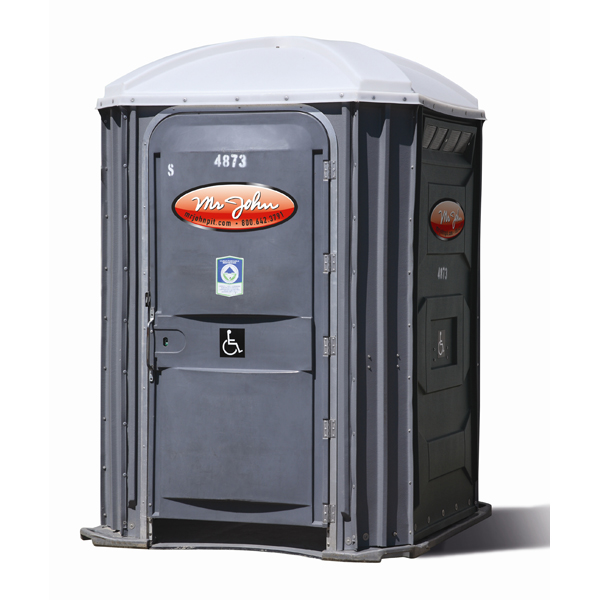 Mr. John's wheelchair accessible porta potty